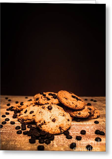 Choc Chip Biscuits Greeting Card
