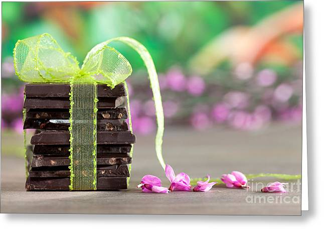 Ingredients Greeting Cards - Chocolate Greeting Card by Nailia Schwarz