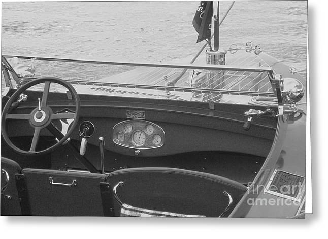 Runabout On Pewaukee Greeting Card