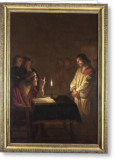 Christ Before The High Priest Greeting Card