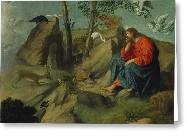 Christ In The Wilderness Greeting Card