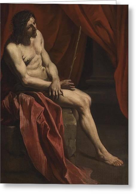 Christ Mocked Greeting Card