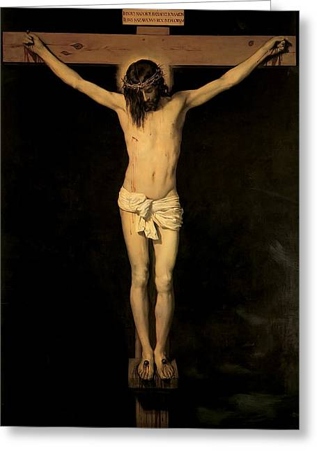 Christ On The Cross Greeting Card