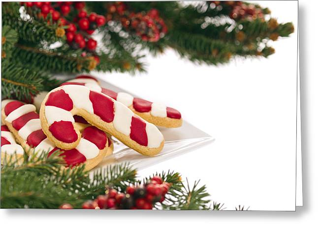 Christmas Cookies Decorated With Real Tree Branches Greeting Card by Ulrich Schade