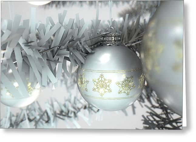 Christmas Decor White Greeting Card by Allan Swart
