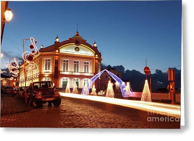 Christmas In Ribeira Grande Greeting Card by Gaspar Avila
