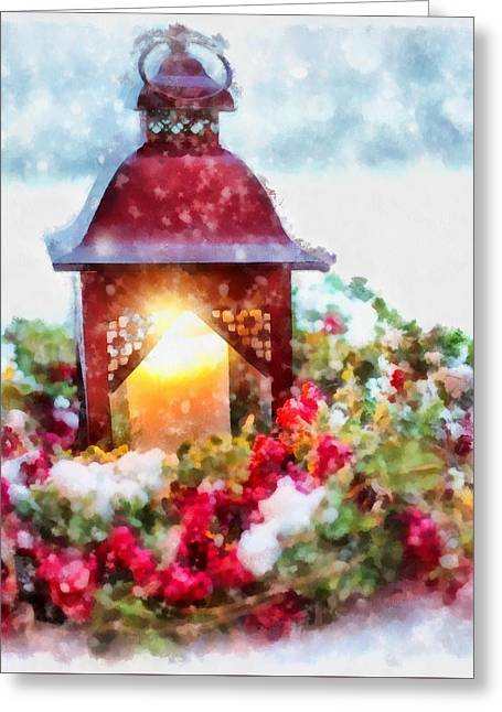 Christmas Lamp Greeting Card