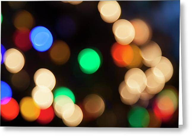 Christmas Lights Greeting Card by Susan Stone