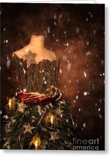 Christmas Mannequin Greeting Card by Amanda Elwell