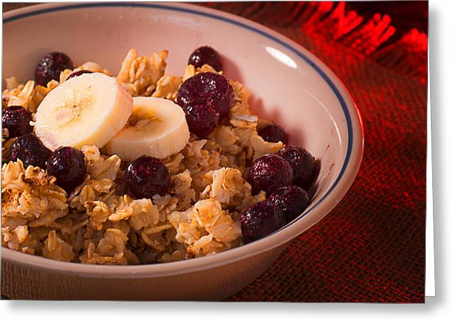 Christmas Oatmeal Breakfast Greeting Card by Donald Erickson