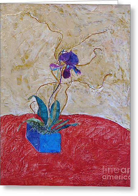 Christmas Orchid Greeting Card by James SheppardIII