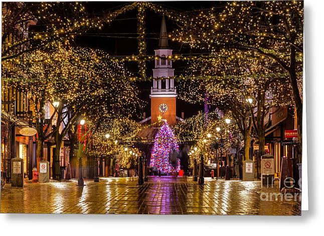 Christmas Time On Church Street. Greeting Card