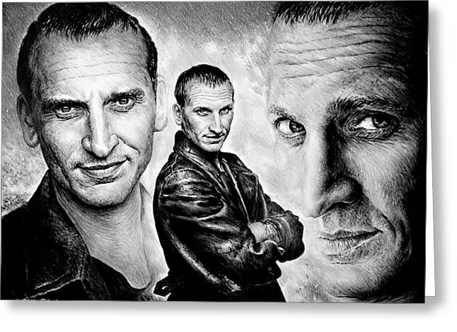 Christopher Eccleston Greeting Card by Andrew Read