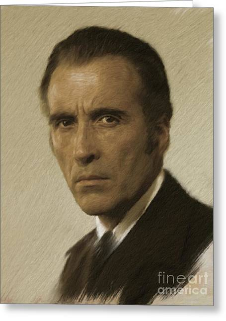 Christopher Lee, Vintage Actor Greeting Card