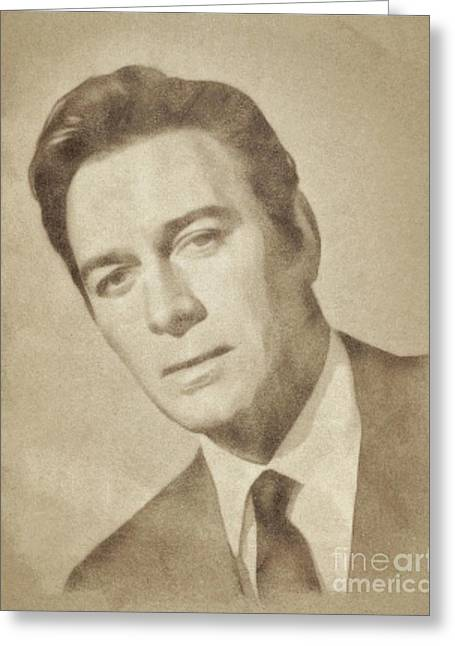 Christopher Plummer, Vintage Actor By John Springfield Greeting Card by John Springfield