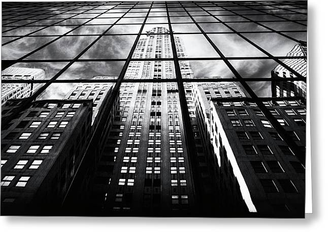 Greeting Card featuring the photograph Chrysler Reflections by Jessica Jenney