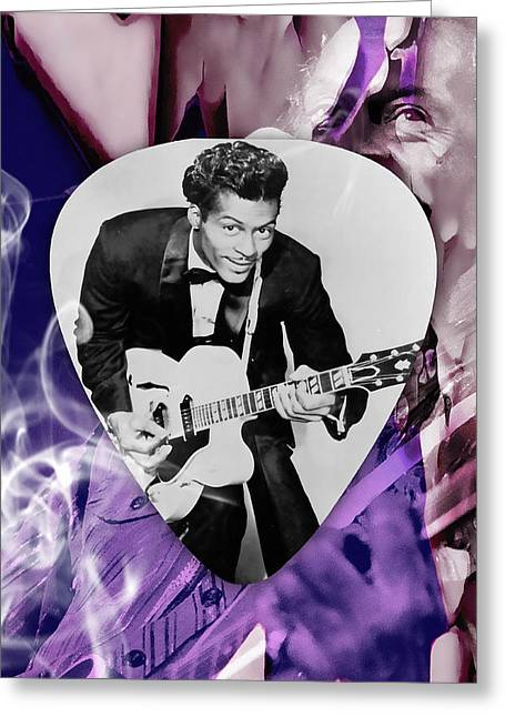 Chuck Berry Art Greeting Card