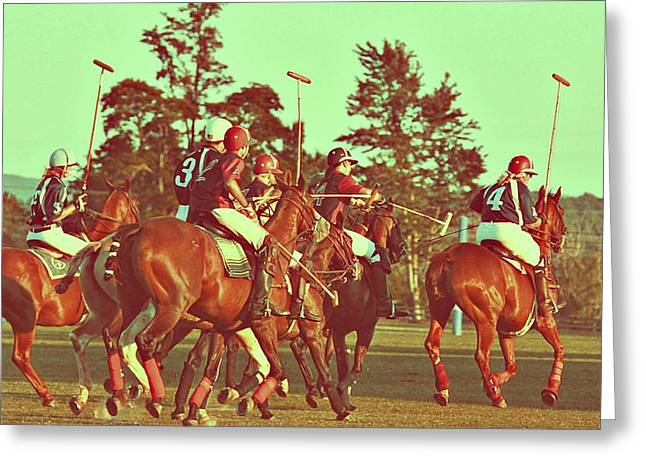 Greeting Card featuring the photograph Chukker Play by Dressage Design
