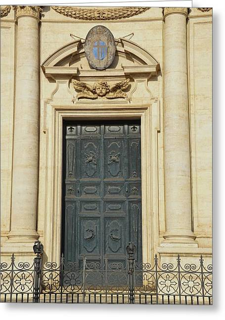 Church Entry Greeting Card by JAMART Photography