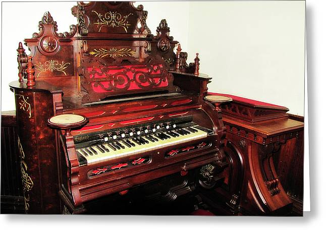 Pipe Organ Greeting Cards - Church Organ Greeting Card by Scott Hovind