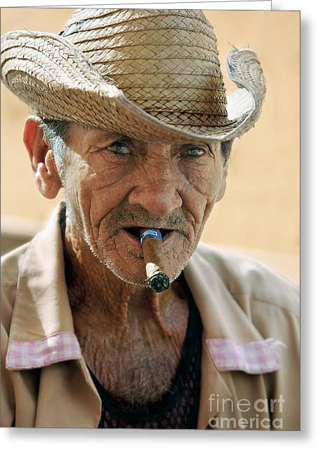Cigar Smoking - Trinidad - Cuba Greeting Card