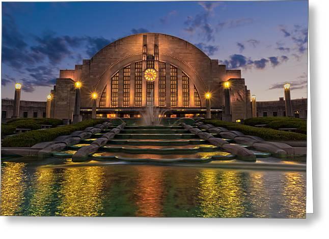 Cincinnati Museum Center At Twilight Greeting Card