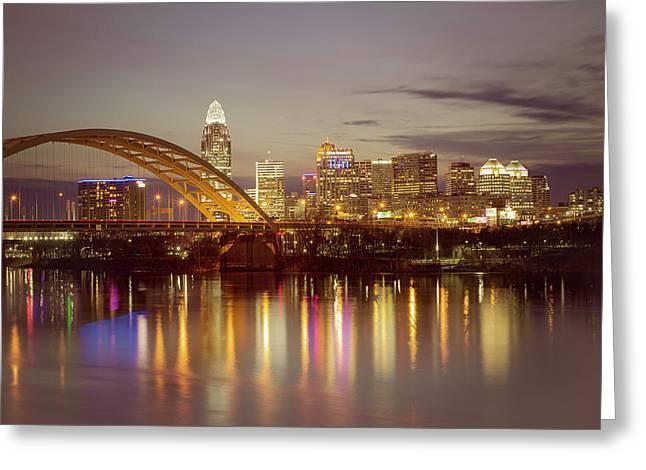 Cincinnati Greeting Card by Scott Meyer