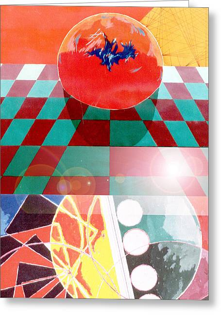 Circles Greeting Card by B and C Art Shop