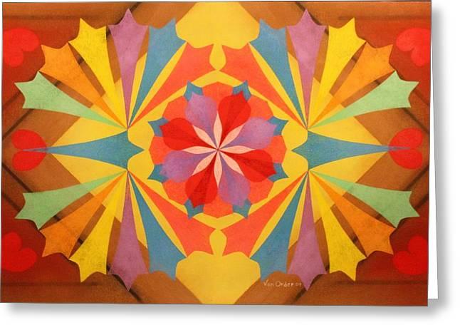 Circus Of Color Greeting Card by Richard Van Order