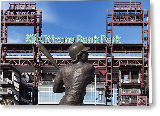 Citizans Bank Park Greeting Card by John Greim