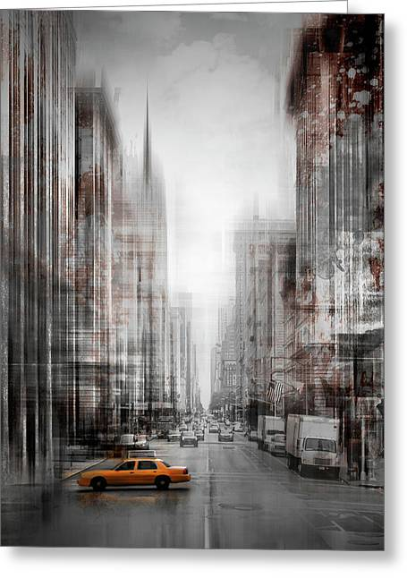 City-art Nyc 5th Avenue  Greeting Card