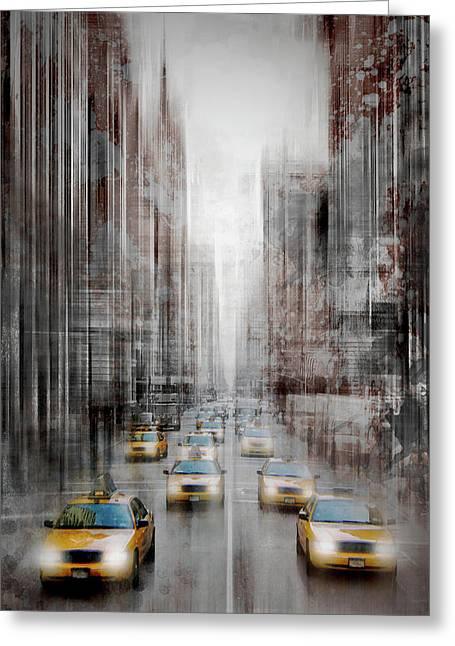 City-art Nyc 5th Avenue II Greeting Card by Melanie Viola