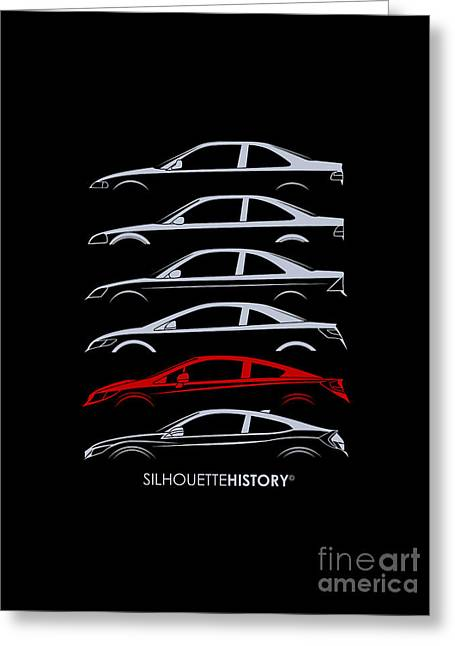 Civil Coupe Silhouettehistory Greeting Card by Gabor Vida