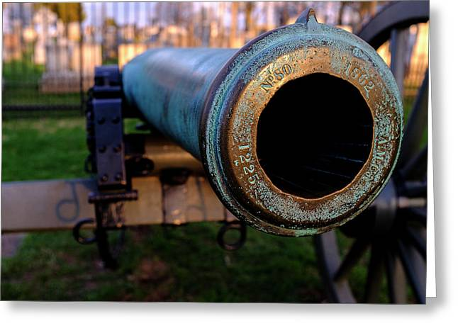 Civil War Cannon 1862 In Gettysburg Pa Greeting Card