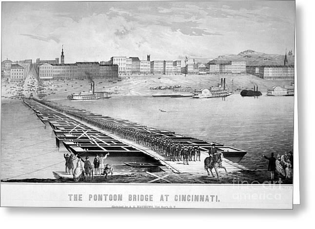 Civil War: Pontoon Bridge Greeting Card