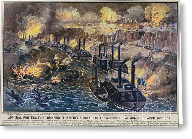 Civil War: Vicksburg, 1863 Greeting Card by Granger