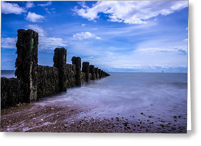 Clacton Beach Greeting Card by Martin Newman