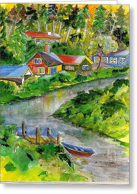 Clallam River Greeting Card by KC Winters