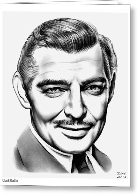 Clark Gable Greeting Card by Greg Joens