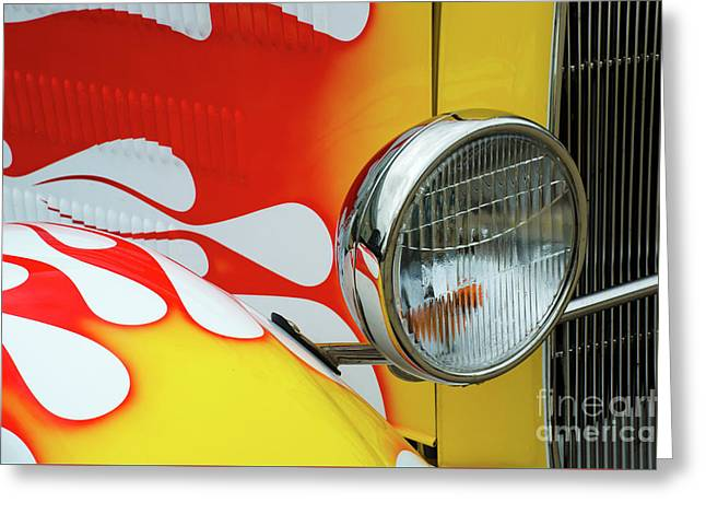 Classic Cars Beauty Of Design 3 Greeting Card by Bob Christopher