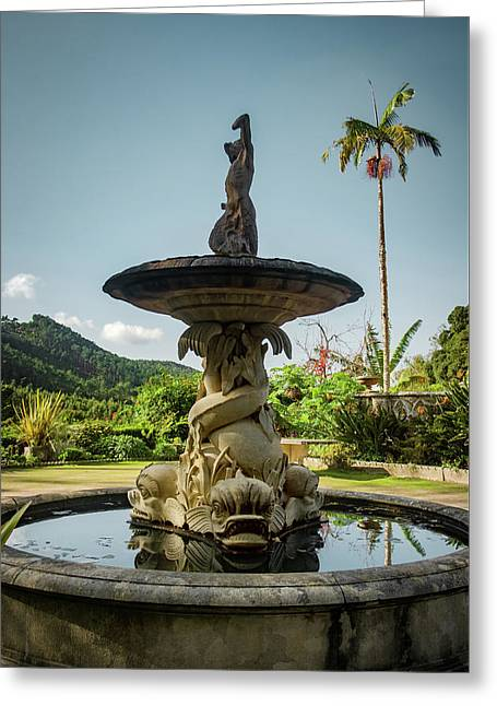 Greeting Card featuring the photograph Classic Fountain by Carlos Caetano