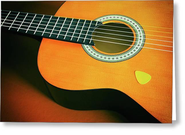 Classic Guitar  Greeting Card by Carlos Caetano