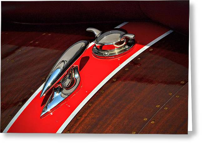 Classic Race Boat Greeting Card