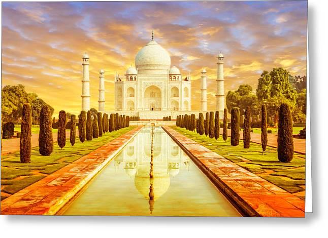Classic Taj Mahal Greeting Card by Nila Newsom