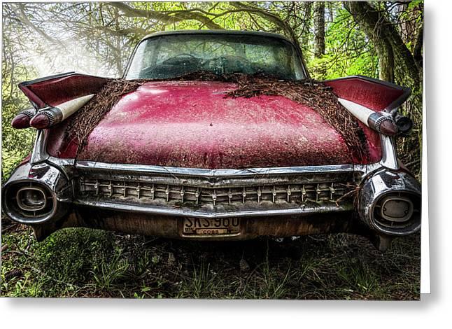 Classy Cadillac Greeting Card by Debra and Dave Vanderlaan