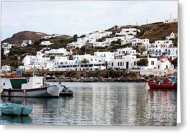 Clear Day In Mykonos Greeting Card