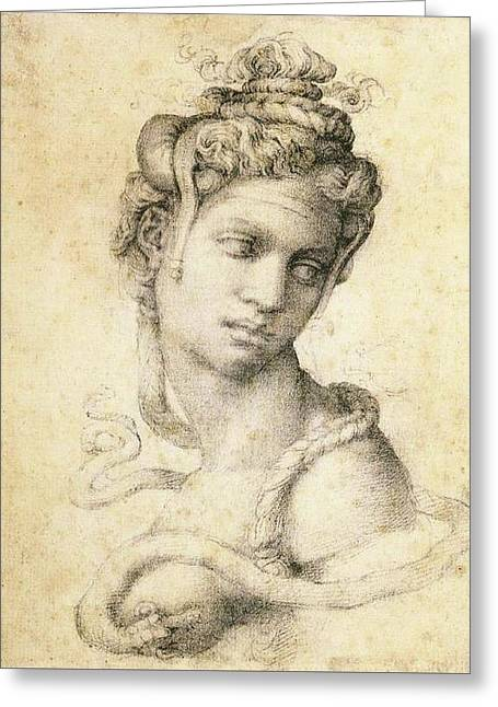 Cleopatra Greeting Card by Michelangelo Buonarroti