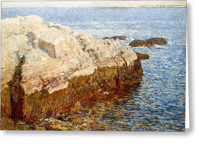 Cliff Rock - Appledore Greeting Card by Childe Hassam