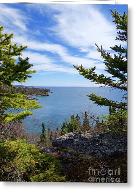 Cliff Top View Greeting Card by Sandra Updyke