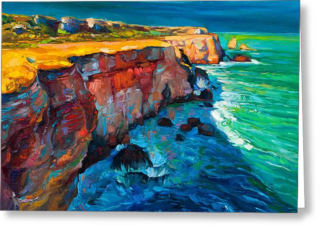 Cliffs And Ocean Greeting Card by Boyan Dimitrov